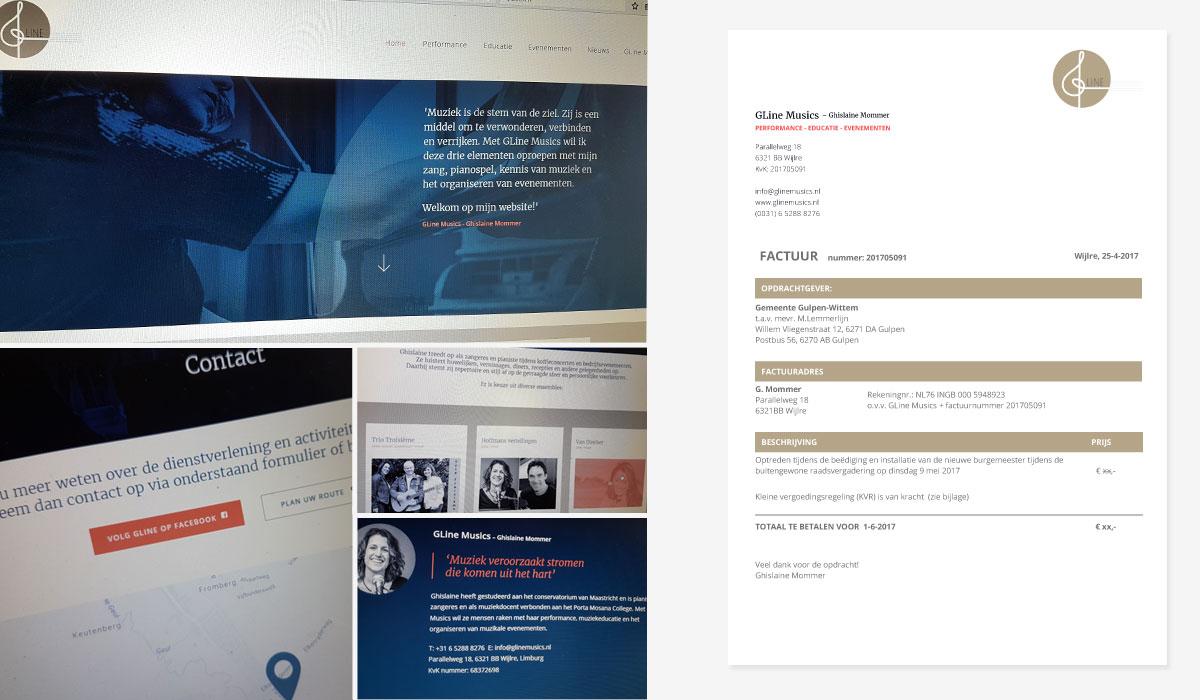 website ontwerp GLine Musics Wijlre