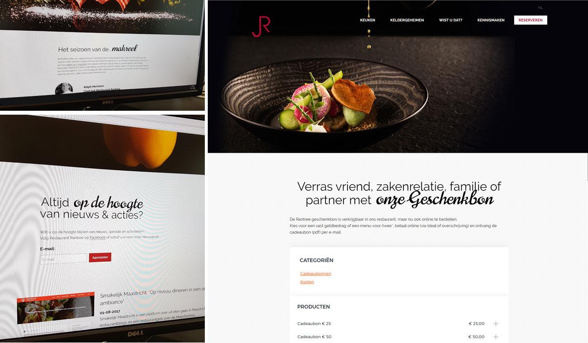 webdesign restaurant rantree, Maastricht