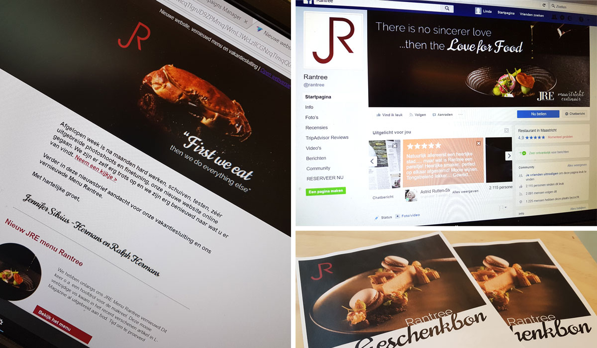 Social media, drukwerk en nieuwsbrieven