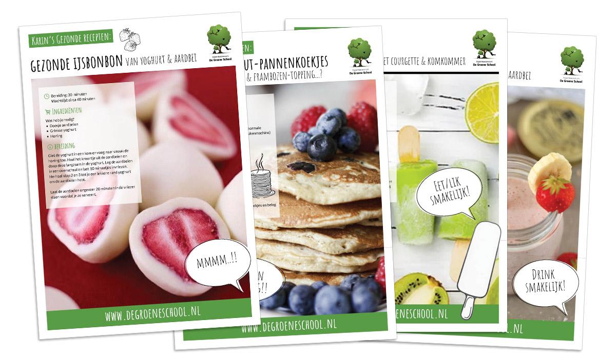 Grafisch ontwerp- gezonde recepten