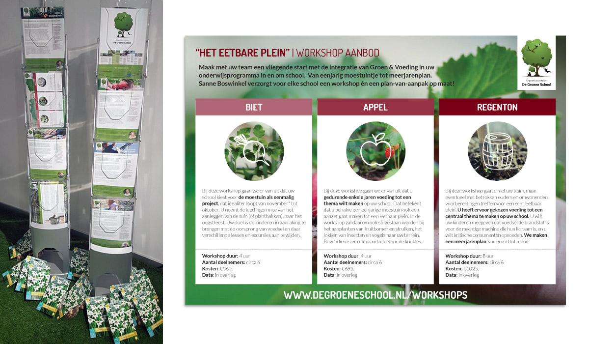 Grafisch ontwerp workshop en expertise flyers