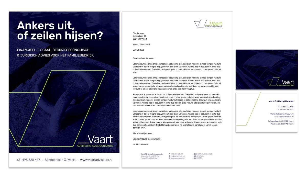 VAART Adviseurs en Accountants Weert - concept identiteit